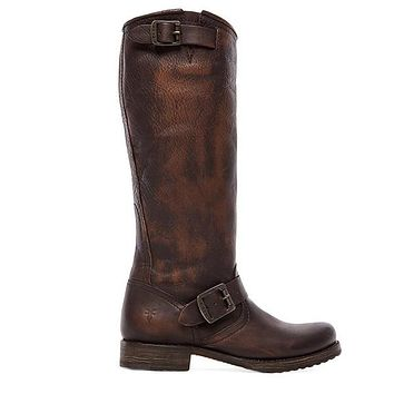Frye Boot Veronica Slouch - Dark Brown Knee-high boot