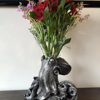 Kraken Vase, Pewter Finish