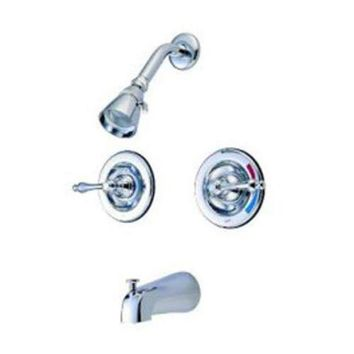 CREYONV elements of design eb661al new orleans chrome pressure balanced tub and shower faucet with metal lever
