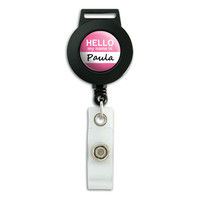 Paula Hello My Name Is Retractable Badge Card ID Holder