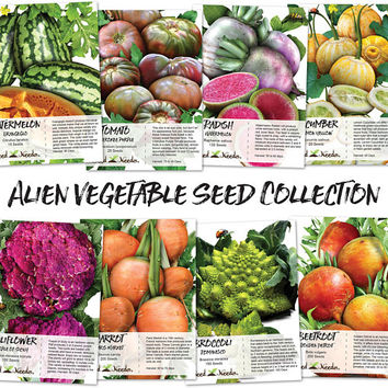 Alien Vegetable Seed Collection (8 Individual Seed Packages)