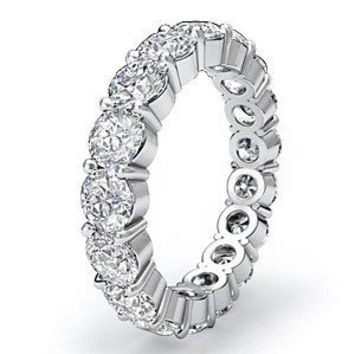 Blount Jewels 5 Carat F-g/vs Round Diamond Eternity Band In 18k Gold (5)