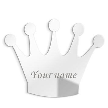 Cool 3MM Personalised Acrylic Princess Mirror Custom Queen Crown Wedding Crown Decor Mirror Sticker with Self-Adhesive Party FavorAT_93_12