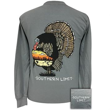 Southern Limits Turkey Unisex Comfort Colors Long Sleeve T-Shirt