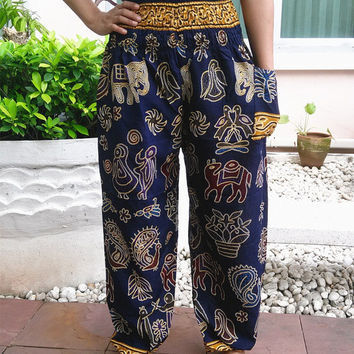 Boho Clothing Plus Size Pants Printed Yoga Pants Hippie