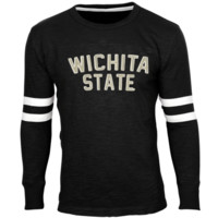 Wichita State Shockers Legacy Arch Applique Long Sleeve Slub Crew - Black