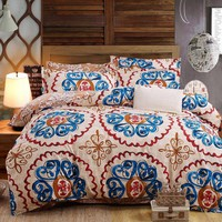 Dream NS gorgeous printing pattern Bedding Set Warm and comfortable Bedclothes King Queen 4 pieces Four seasons available