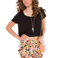 Trina Basic Crop Top - Black