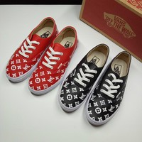Vans x LV Fashion Leather Old Skool Flats Shoes