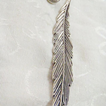 Feather Ammo Casing Bookmark - Bookmark for Bible, hard back books - long feather charm with bullet shell charm dangle