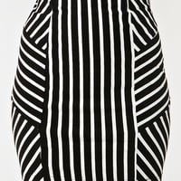 Vertigo Stripe Skirt