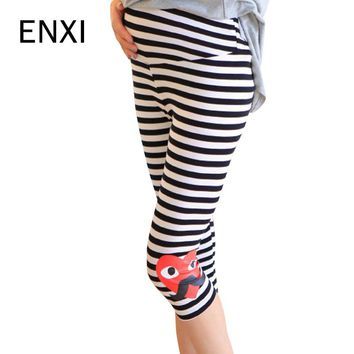 ENXI Maternity Shorts Elasticity Seven Pants Casual Pregnancy Clothes Capris Trousers For Pregnant Women Clothing Summer