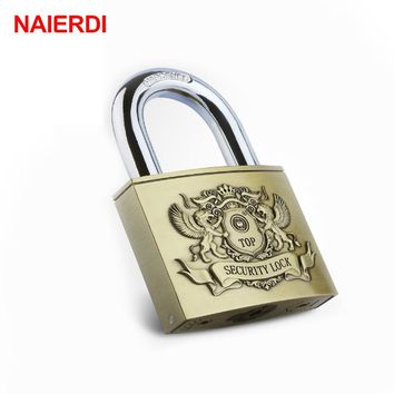 NAIERDI C6 Serie Super B Grade Brass Padlocks Anti-Theft Rustproof Travel Luggage Suitcase Gate Lock Security Padlock Hardware
