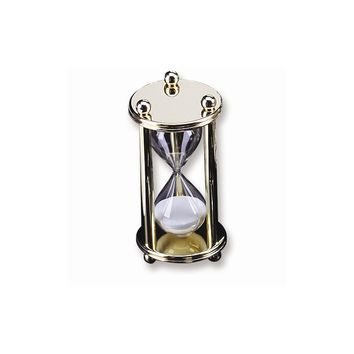 Gold-plated 5 Minute Sand Timer - Engravable Personalized Gift Item