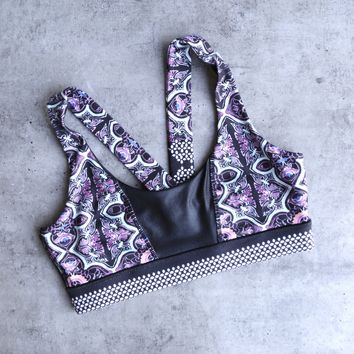 minkpink move - adventure island sports bra