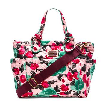Marc by Marc Jacobs Pretty Nylon Jerrie Rose Elizababy Tote in Pink