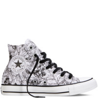 Converse Chuck Taylor All Star Floral Print White/Black Hi Top