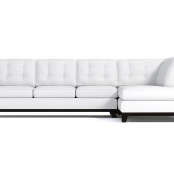 Brentwood 2pc Sectional Sofa RAF in WHITE VELVET - CLEARANCE