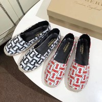 Burberry Women Fashion millimeter classic Casual Sneakers Sport running flat Shoes Top quality red black