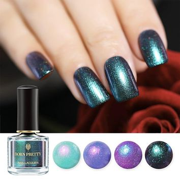 BORN PRETTY Chameleon Shell Shimmer Nail Polish 6ml Mermaid Glitter Varnish Summer Series Manicure Nail Art Lacquer Vernis