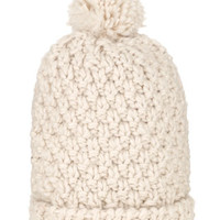 Chunky Cable Pom Beanie | White | Accessorize