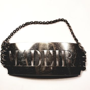 Sterling silver Madeira Decanter tag