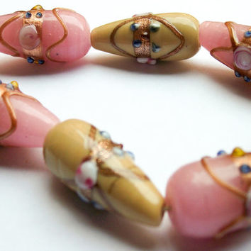 Murano glass wedding beads necklace, Handcrafted in Venice, Italy various colors of beads