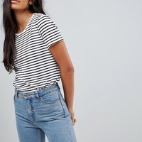 ASOS TALL Stripe Crew Neck T-Shirt at asos.com