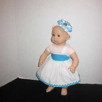 American Girl, Bitty Baby, 15 Inch Doll Dress, Baby Doll Clothes, Baby Doll Dress, By Sweetpeas Bows & More