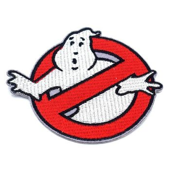 New Big Size Full Embroidered Iron On Ghostbusters Ghost Patches Embroidered Clothes Patch For Clothing Clothes Stickers Garment