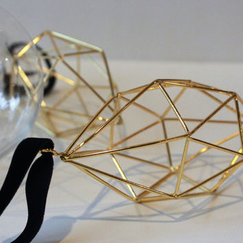 Geometric Ornaments, Himmeli Inspired Ornaments, Gold Ornaments. Christmas Ornaments, Modern Ornaments,Hexagon shape ornaments,