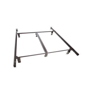 King size Heavy Duty Metal Bed Frame with Double Rail Center Support