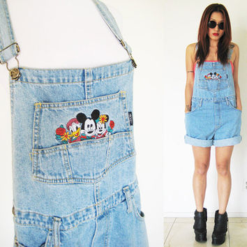 Vintage 80's authentic Disney Mickey Mouse Jerry Leigh jeans denim overalls