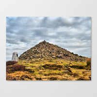 Beamsley Beacon  Stretched Canvas by Karl Wilson Photography