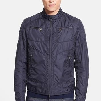 Men's Moncler 'Donatien' Nylon Moto Jacket,