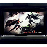 Colorful Metal Rolling Tray - Superman vs. Batman
