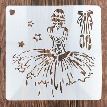 Princess Girls Star Shaped Reusable Stencil Airbrush Painting Art Cake Spray Mold DIY Decor Crafts