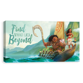 Moana 'What Lies Beyond' Wrapped Canvas