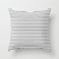 #43 Lines Throw Pillow by Minimalist Forms
