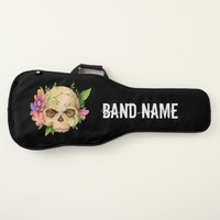 Skull With Flowers Personalized Guitar Case