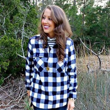 Buffalo Blue Plaid Shirt by Love Stitch FINAL SALE!