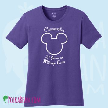 Personalized Disney Mickey Mouse Birthday Shirt