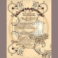 HORSE MYTHOLOGY, Digital Download,  Book of Shadows Page, Grimoire, Scrapbook, Spells, Wiccan, Witchcraft,