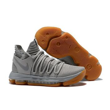 Nike Mens Kevin Durant Kd 10 Light Gray Basketball Shoes | Best Deal Online