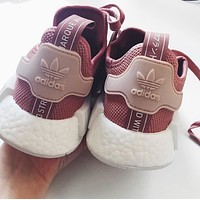 """Adidas"" NMD Fashion Sneakers Trending Running Sports Shoes pink"