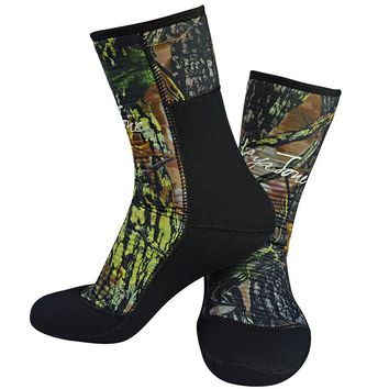 Men Women Neoprene Scuba Diving Socks 7mm Camouflage For Underwater Hunting Spearfishing Swimming Wetsuit Shoes