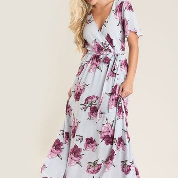 Bethany Lavender Floral Maxi Dress