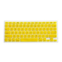 Yellow Silicone Keyboard Cover Skin for Macbook Pro 13-inch