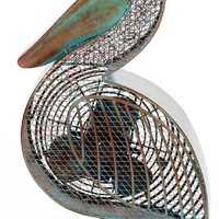 Deco Breeze DBF0366 Cast-Metal 16-1/2-Inch Pelican-Shaped Decorative Fan