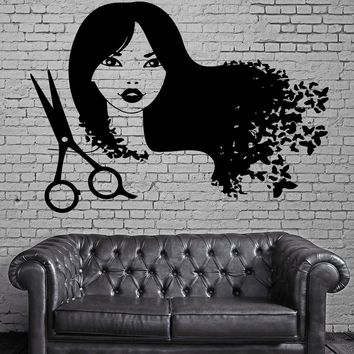 Hair Beauty Salon Barbershop  Decor Wall Stickers Vinyl Decal (z2266)